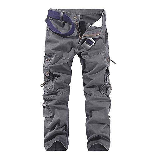 Vertvie heren outdoorbroek trekkingbroek vrijetijdsbroek met multi-pocket tactische broek werkbroek camouflage broek wandelbroek