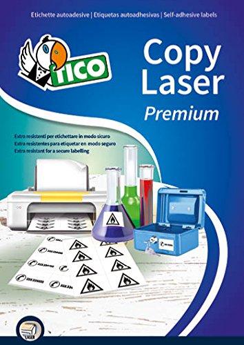 Tico LP4P-4825 polyester etiketten, 70 FF, 48,5 x 25.4, wit
