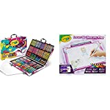 Crayola Inspiration Art Case Coloring Set, Gift for Kids Age 5+, Pink, 140 Count & Light Up Tracing Pad Pink, AMZ Exclusive, At Home Kids Toys, Gift for Girls & Boys, Age 6+
