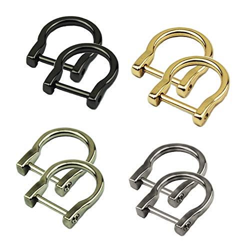 Sweieoni D-Ring Rucksackschnalle Taschenzubehör 8 Stücke D-Ring D-Schlaufe Abnehmbare,für Handtasche Bändern Rucksäcken Gepäckzubehö Gürteln