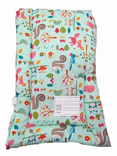 防災クッション 防災頭巾 日本製 小学生低学年向け:約25X42(10 ペパーミントグリーン地 動物柄)