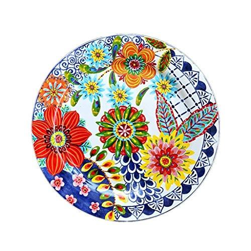 WSHFHDLC Cuenco de la Cultura Popular tazón Retro portacubiertos Creativa del Plato de Edad en Azul y Blanco Popular Placa Decorativa Placa de cerámica West Point Cuenco de la Cultura Popular