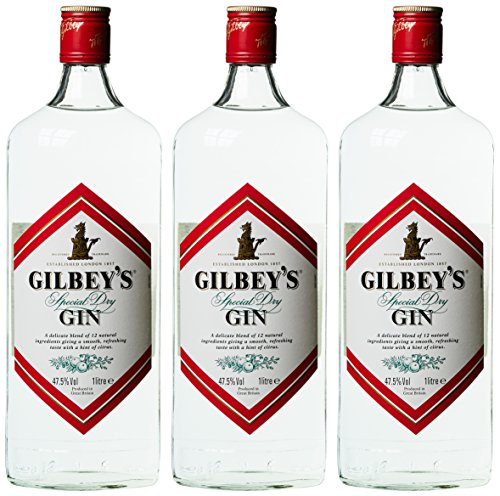 Gilbey's Gin 47.5% (3 x 1 l)