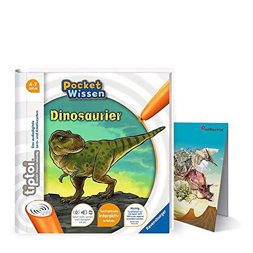 tiptoi Ravensburger Buch 4-7 Jahre   Pocket Wissen - Dinosaurier + Kinder Dino Poster   Pocketwissen, Tip TOI
