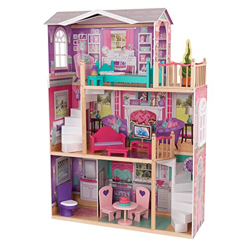 "KidKraft 18"" Dollhouse Doll Manor, Multicolor"