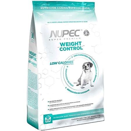 Nupec alimento para Perros, Weight Control, nutrición para Perros con sobrepeso u obesidad, presentación de 15 kg.