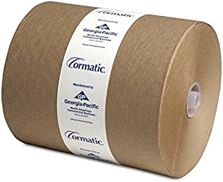 """Georgia Pacific 2910P Cormatic Hardwound Paper Towels, 8.25"""" x 700' Roll, Brown, Poly-bag Protected (1 Individual Roll of 700')"""