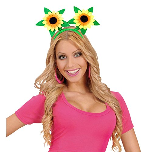 Amakando Serre-tête Fleurs de tournesols décoration pour Cheveux Printemps fête Anniversaire Enfants Bandeau tête Hippie Accessoire Carnaval