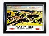 Poster Yorkshire #2, A4, gerahmt, Plexiglas, Front