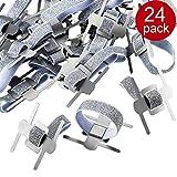 Chinco 24 Stück Elastische Handgelenk Korsage Band, Elastische Armbänder für Hochzeit Prom Blumen