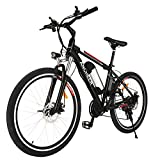 ANCHEER Electric Mountain Bike, 250W 26'' Electric Bicycle with Removable 36V 8AH Lithium-Ion Battery for Adults, 21 Speed Shifter
