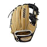 Wilson A2000 11.75-Inch SuperSkin Baseball Glove, Blonde/Black/White, Left (Right Hand Throw)