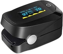 E T EASYTAO Oxímetro de Pulso de Dedo con Pantalla a Color, Monitor Digital de Frecuencia Cardíaca PR, Saturación de Oxíge...