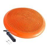 Aufblasbare stabile Balance-Platte, Wackelkissen, geeignet für Zuhause, Büro, Schreibtisch und Stuhl, mit aufblasbarem sensorischem Schaukelsitz (orange)