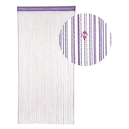 HAB & GUT -DV0129A- Cortina de Hilos para Puerta Violeta, 90 x 190 cm