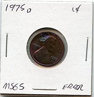 1975 D Lincoln Cent Penny MS-65 US Mint