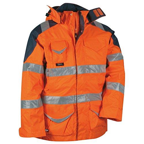 Cofra, 40-00V02401-52, Giacca invernale alta visibilità 4-in-1 Protezione V024-0.01, giacca impermeabile, Big...