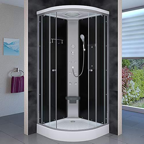 AcquaVapore DTP10-0300 Dusche Duschtempel Duschkabine Fertigdusche 80x80cm OHNE 2K Scheiben Versiegelung