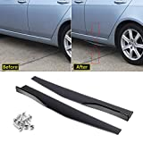 Xotic Tech Gloss Black Side Skirt Rocker Winglets Splitters Extensions Diffusers Lip Wind Wing Body Kit Compatible with Most Cars Universal Fit