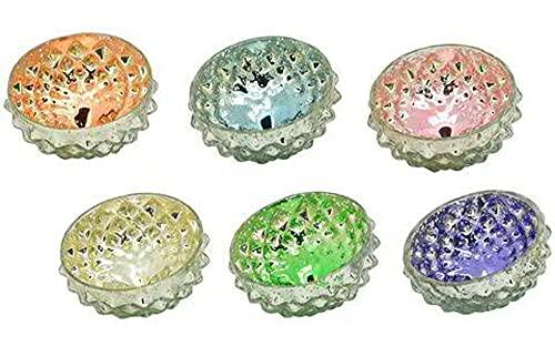 itsisa Glas Schwimmschale Pastellmix, 6er Set - Schwimmkerzen, Schwimmlicht, Tischdeko, Teelichthalter schwimmend