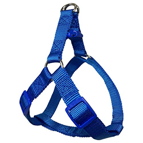 Dog Harness, Premiun Basic Halter Harness for Small Medium Large Dogs, Upgraded No-Pull Design, with Durable Webbing Fabrics (Medium Fit Chest: 17-25 in, Blue)