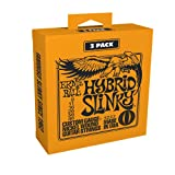 Ernie Ball Hybrid Slinky Electric Guitar Strings 3-Pack - 9-46 Gauge (P03222)