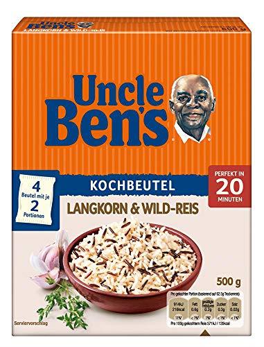 Uncle Ben's Langkorn & Wild-Reis Kochbeutel (1 x 500 g)