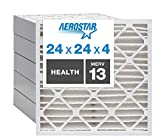 Aerostar Home Max 24x24x4 MERV 13 Pleated Air Filter, Made in the USA, 6-Pack