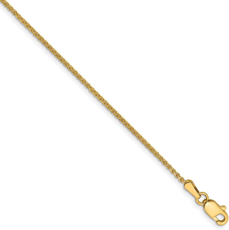 Beautiful Yellow gold 14K Yellowgold 14k 1.2mm D C Spiga Chain