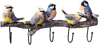 RRSHUN バードコートフック 壁掛け ワードローブ 装飾 クリエイティブ アート 樹脂製 カラフル バードフック 帽子 キータオル スカーフ 衣類 リビングルーム ベッドルーム 装飾