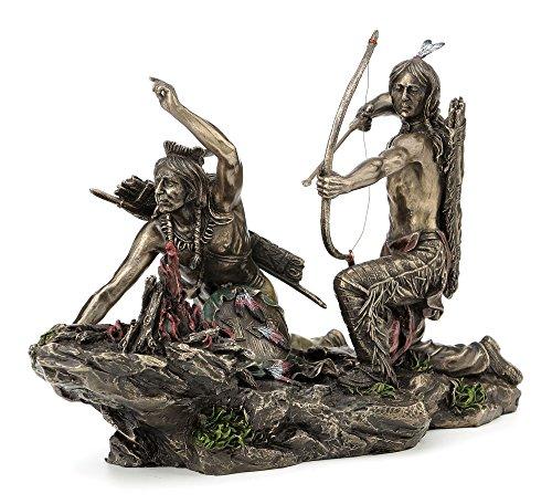 JFSM INC Native American Indians Hunting Statue Sculpture Figurine