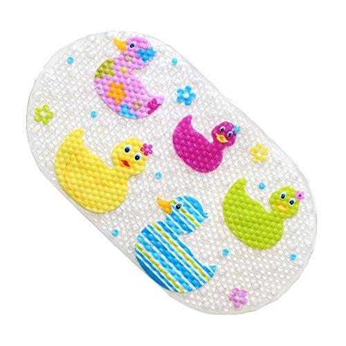 Jipai(TM) Tapis de bain Antidérapant Tapis de Baignoire pour Bébés Enfant Salle de Bain Durable et Résistant (Canard)