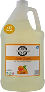 Laundry Detergent scented with 100% Pure Orange Essential Oils 128 fluid oz Readily biodegradable No hormone disruptors 128 loads