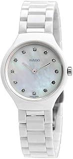 Rado - R27958912 True Thinline 30mm Reloj de cerámica con esfera blanca MOP