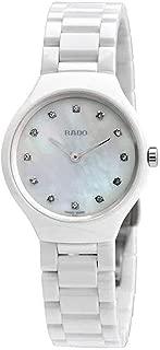 rado true thinline white ceramic