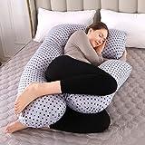Almohada de Embarazo, Almohada Embarazada Dormir en Forma de U, Multifuncional Embarazo Almohada de...