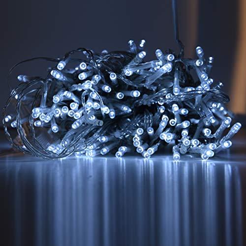 Mercury -ME82237- Tenda di Luci a 300 LED e 15 Fili da Esterno Effetto Flash Bianco Cavo 10mt x 2,5 Trasparente Prolungabile