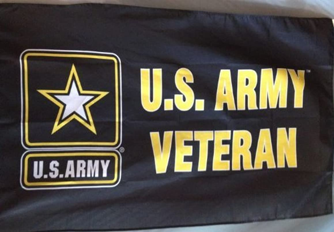Ramsons Imports United States Army Veteran 3 x 5 Foot Flag Black and Yellow Polyester Military