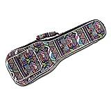 Tebery Funda para ukelele de 23 pulgadas, con correa ajustable para el hombro, estilo bohemio