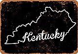ALIALI KFQCIO Kentucky Set 3 placas de metal retro de estaño, decoración de pared, patio familiar, café, bar, restaurante, gasolina, 30,5 x 20,3 cm