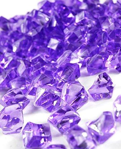 Homeneeds Inc Ice Rock Crystals Treasure Gems for Table Scatters, Vase Fillers, Event, Wedding, Birthday Decoration Favor, Arts & Crafts (1 lb. Bag) (Lavender)