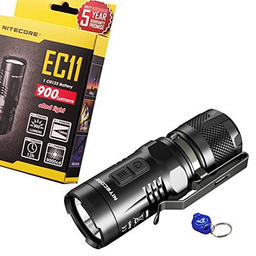 Nitecore EC11Mini más brillante 900Lumens Cree XM-L2U2LED linterna con un lúmenes táctico llavero luz