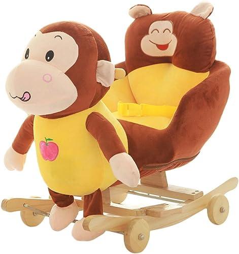 HUXIUPING Trojanische Kinder Früherziehung Schaukelpferd Baby Schaukelstuhl Musik Dual-Use-Baby-Spielzeug