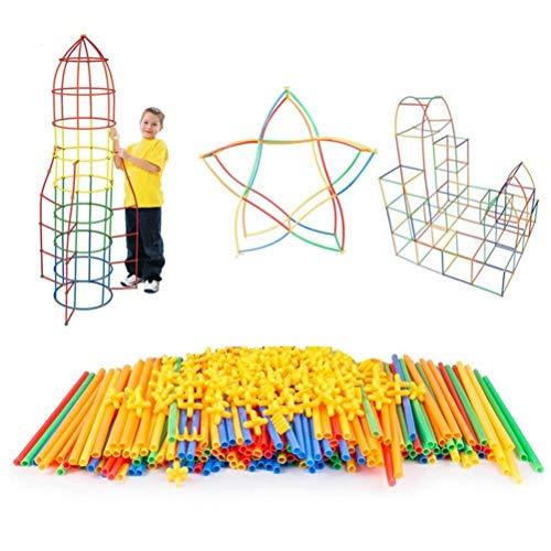 Hahepo Pajitas de bloques de construcción, juguetes creativos, kit de construcción para edificios, kit de juguetes para estructuras y rompecabezas.
