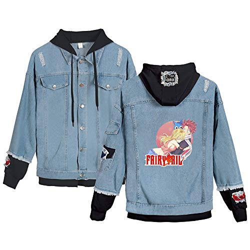 KIYOUMI Fee Staart Anime Denim Hoodie Herfst Winter Casual Vintage Was Distressed Denim Jas