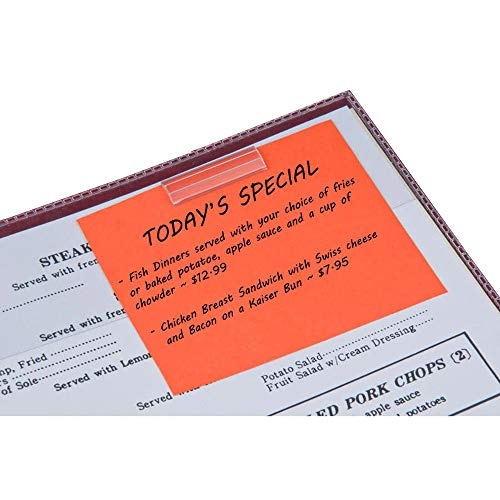 Cafe Restaurant Specials Clear Adhesive Menu Clip (25 Count)