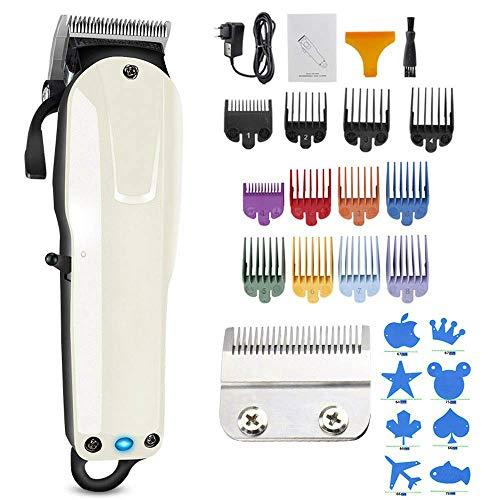 Meirrai Hair Cut Clippers, électrique Rasoirs Professionnel Rechargeable Rasoir, Maison de Sharp 8pcs Couleur des Cheveux Clipper Guide de Combs, Remplacement Guards Set
