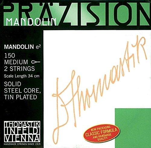 Thomastik 659993 Saiten für Mandoline, Satz weich mit Schlinge für Mensur 34 cm