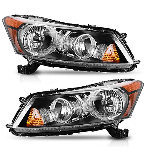 AUTOSAVER88 Headlight Assembly Compatible with 2008-2012 Honda Accord 4-Door Sedan Driver & Passenger Side