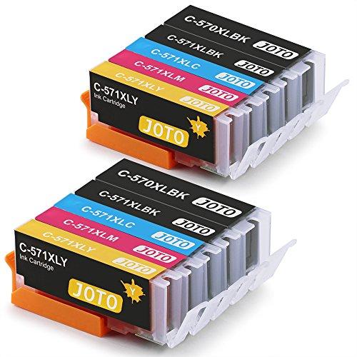 JOTO PGI-570XL CLI-571XL Reemplazo Cartuchos de Tinta para Canon PGI-570 XL CLI-571 XL,Compatible con Canon MG5750 MG6852 MG5751 MG6850 TS5050 TS5051 TS5055 MG5753 MG5700 MG6851 TS6050,10 Paquetes
